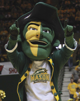 George Mason's mascot is a patriot