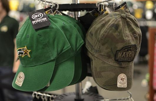 Operation Hat Trick co-branded hats are currently on sale in the JC bookstore. (Jake McLernon)
