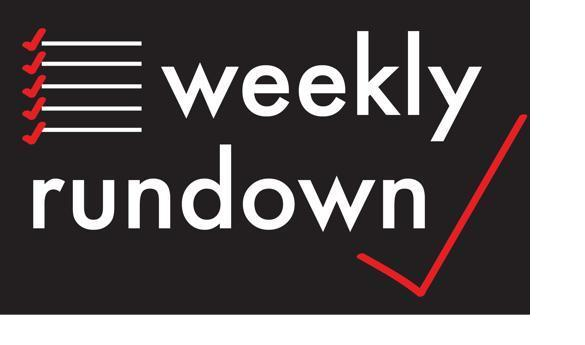 Weekly Rundown: 5 events for your week