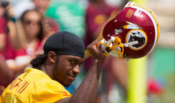 Robert Griffin III has been the talk of DC since being drafted in April's NFL Draft (photo courtesy of Keith Allison/ Flickr)