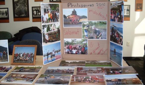 Students present their study abroad experience (Photo courtesy of Audrey Mattain)