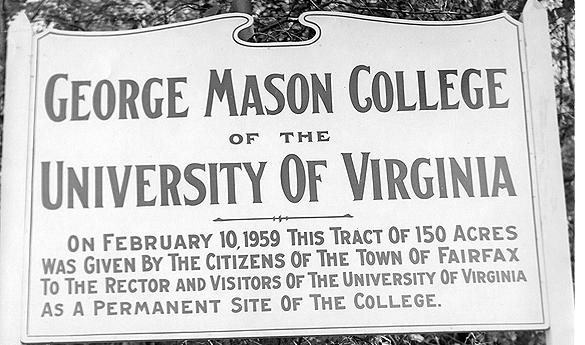 The George Mason College of the University of Virginia was approved by the Commonwealth of Virginia in 1956. (Photo courtesy of George Mason University.)