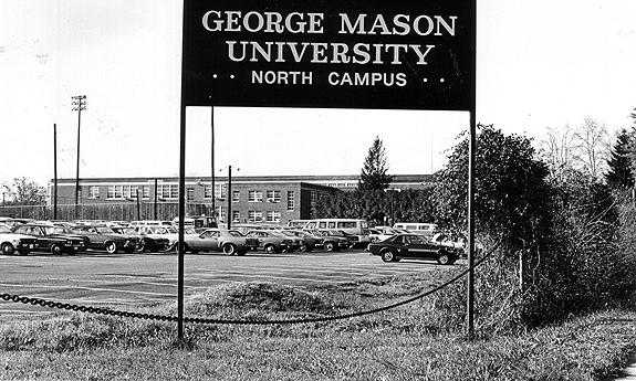 George Mason College expanded rapidly in the 1960s, raising question over whether the institution should be independent from the University of Virginia (photo courtesy of George Mason University Libraries).