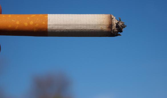 University policy states that one must not smoke within 25 feet of a building (photo courtesy of Jeffrey Rand/Flickr).