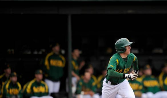 Mason baseball continues their homestand today at 2 p.m. against Northeastern (Photo courtesy of Mason Athletics).
