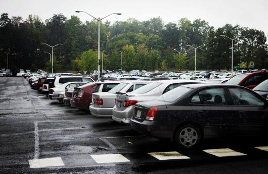 Parking on campus was busier this year than previous years.