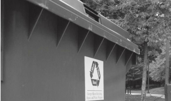 More than 3,000 recycling bins have been placed around campus in an effort to reduce waste (Photo by Ricky Riccio).