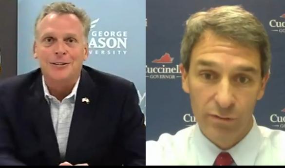 Democrat Terry McAuliffe (left) and Republican Ken Cuccinelli (right) (photo courtesy of Virginia21).