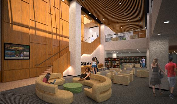 Renovations on Fenwick are estimated to be completed by Winter 2015 (photo courtesy of George Mason University Library Services).