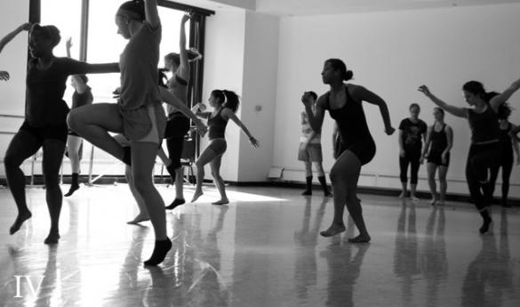 Senior dance majors choreograph the pieces performed in the Fall Dance Concert (photo by John Irwin).