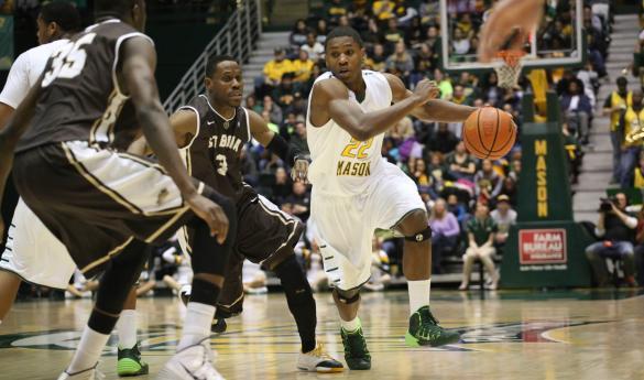 Mason men's basketball takes on Saint Louis on Wednesday at 7 p.m. (photo by John Irwin).