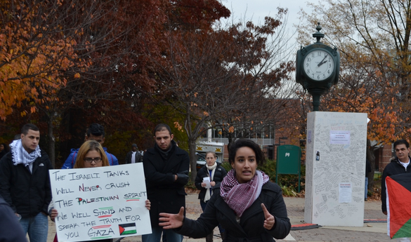 Mason students held a protest on North Plaza on Thursday, Nov. 15, 2013 (photo courtesy of Alex Perry).