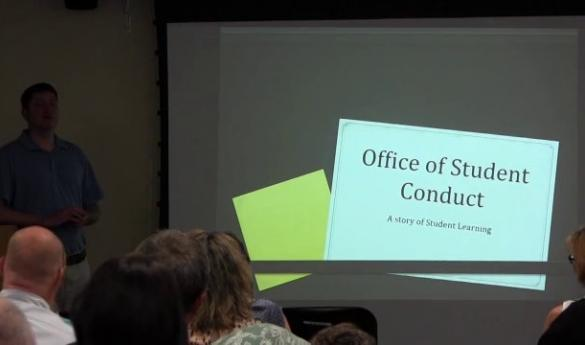 Mason's current code of conduct does not allow students have a lawyer represent them during conduct hearings, that could change with a new legislation in the General Assembly (photo courtesy of Office of Student Conduct).