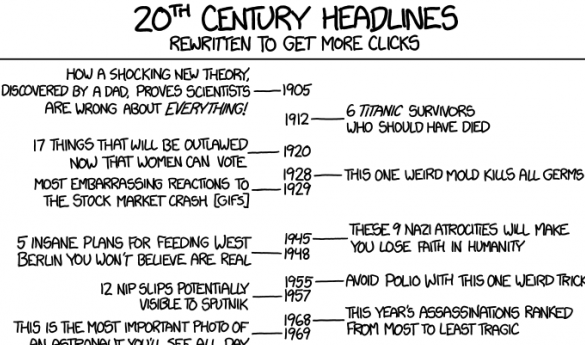 Headline writing has become an art-form all on its own (photo courtesy of XKCD.com).