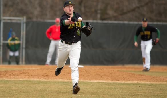 Mason baseball defeats Hartford 1-0 in seventh inning as game is called for cold weather (photo by Maurice Jones).